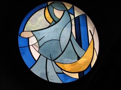 Eglise St-Théodule : La lune (Bovernier, VS)