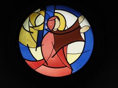 Eglise St-Théodule : Le soleil (Bovernier, VS)